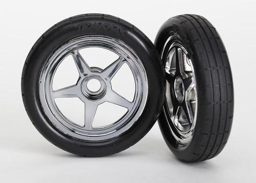 Traxxas Pre-Mounted Front Tire Set (Chrome) (2) (TRA6975)