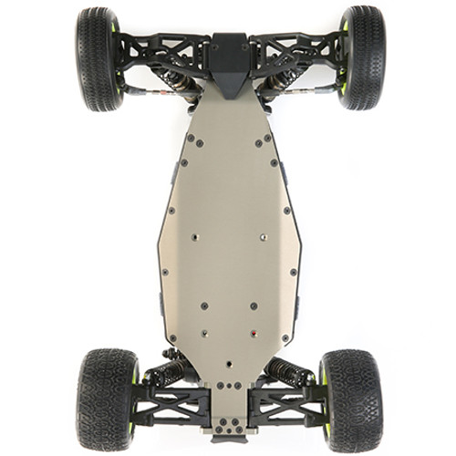 2.0mm Milled Aluminum Chassis  Changing from the 2.5mm thick chassis plate, the 22 5.0 has been improved with a 2.0mm thick chassis plate. The thinner chassis provides more flex and grip, making the 22 5.0 easier to drive and less prone to flipping, as well as absorbing bumps and round landings far better.