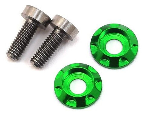 "17.5 RC 3x8mm Titanium ""High Load"" Motor Screws (Green)"