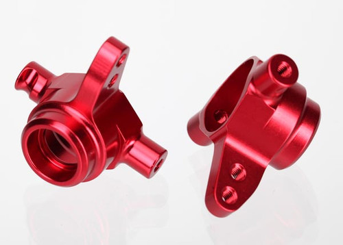 TRAXXAS Aluminum Steering Block Set (Red) (2) (TRA6837R)