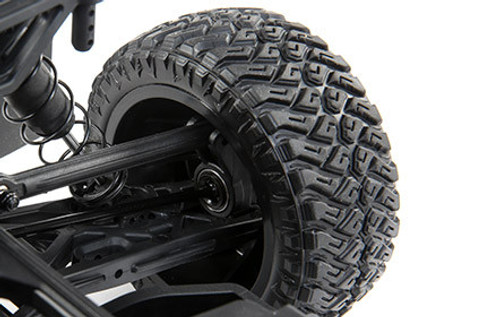 MAXXIS Razr MT Tires:  Working together with MAXXIS Tires, Losi added scaled-down Razr MT tires with an aggressive tread pattern that will help you tackle any terrain. Whether you're driving on asphalt or dirt, these tough tires provide long-lasting tread life and world-class performance.