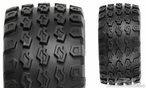 "Pro-Line Dirt Hawg 2.8"" Tires w/Desperado Nitro Rear Wheels (2) (Black) (M2) w/12mm Hex"
