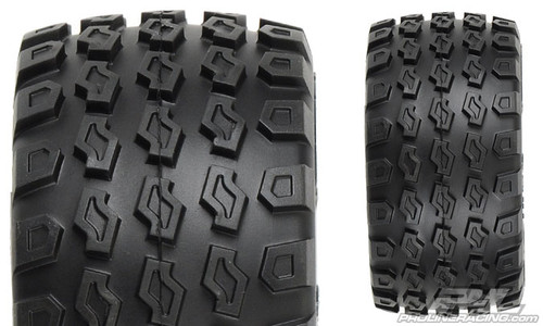 "Pro-Line Dirt Hawg 2.8"" Tires w/Desperado Nitro Rear Wheels (2) (Black) (M2) w/12mm Hex"