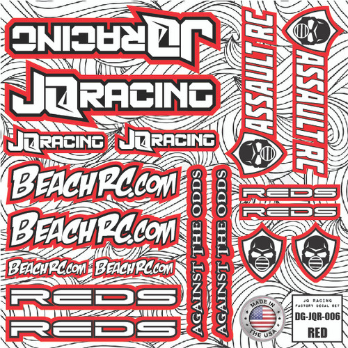 DG Designs JQ Racing Decal Sheet (Red) (DG-JQR006)