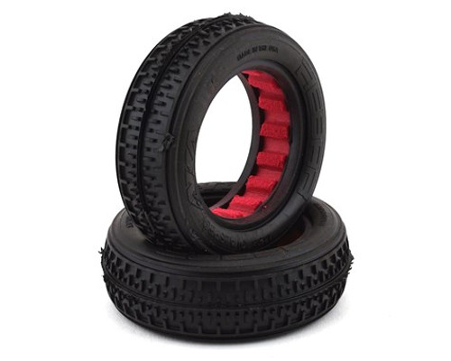 "AKA Rebar 2.2"" Front 2WD Buggy Tires w/Red Insert (2) (Super Soft) (AKA13208VR)"