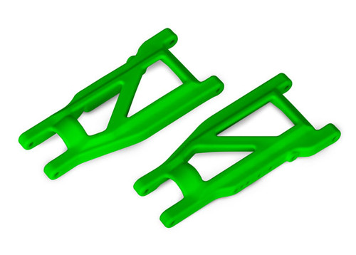 Traxxas Suspension arms - 4x4 Rustler (front/rear) (left & right) (2) (heavy duty) (Green) (TRA3655G)