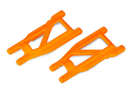 Traxxas Suspension arms - 4x4 Rustler (front/rear) (left & right) (2) (heavy duty) (Orange) (TRA3655T)