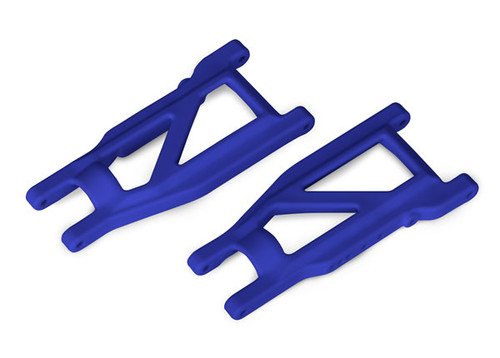 Traxxas Suspension arms - 4x4 Rustler (front/rear) (left & right) (2) (heavy duty) (Blue) (TRA3655P)