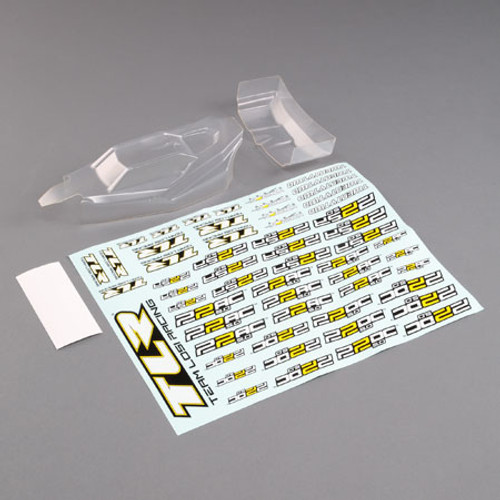 Team Losi Racing 22 5.0 1/10 Buggy Body w/Wing (Lightweight) (Clear) (TLR230012)