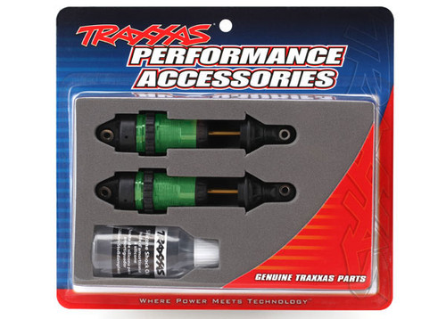 Traxxas Rustler/Slash 4x4 GTR Long Shocks (Green) (TRA7461G)
