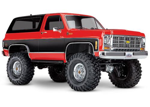 Traxxas TRX-4 Scale and Trail Crawler with 1979 Chevrolet Blazer Body (Red/Black) (RTR)