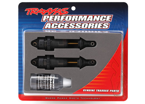 Traxxas Rustler/Slash 4x4 GTR Long Shocks (Black) (TRA7461X)