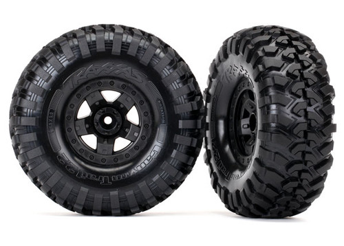 Traxxas TRX-4 Sport Wheels Assembled w/Canyon Trail 2.2 Tires (TRA8181)