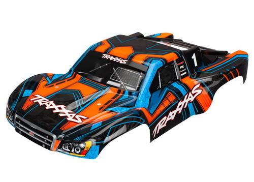 Traxxas Slash 4X4 Painted/Decaled Body Orange/Blue (TRA6844)