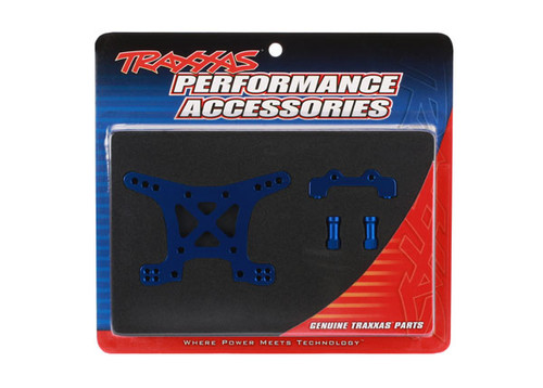 Traxxas Aluminum Front Shock Tower (Blue) (TRA6839X)