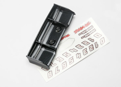 Traxxas 1/16 E-Revo Wing w/Decal Sheet (Exo-Carbon Finish) (TRA7122G)