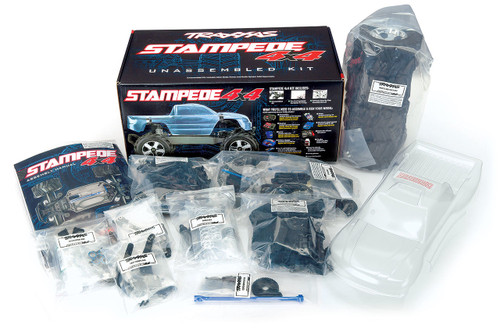 Traxxas Stampede 4X4 1/10 RTR 4WD Monster Truck Kit (No Electronics, Assembly Required)