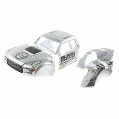 Losi Black Rhino Wheels Ford Raptor Body Set (Baja Rey) (LOS230067)
