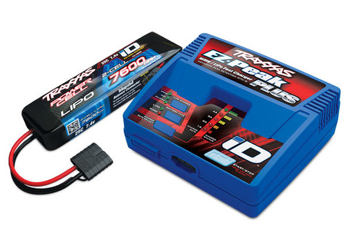 Traxxas Battery/charger completer pack (includes #2970 iD® charger (1) 7600mAh 7.4V 2-cell 25C LiPo battery (1)) (TRA2995)