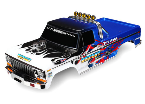 Traxxas Officially Licensed replica (painted, decals applied) Bigfoot® Flame Body (TRA3653)