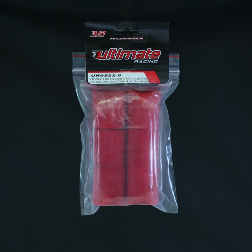 Ultimate Racing Pre-Oiled Dual Staged Foam Air Filter (Losi/Serpent) (6 PCS) (UR0522-6)