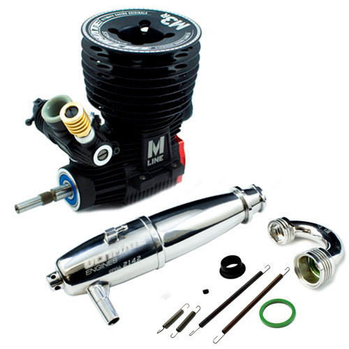Ultimate Racing M-3R .21 Nitro Racing Engine & 2141-F Pipe Combo (UR3401-M3RP41)