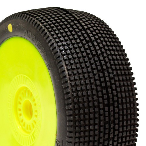ProCircuit Addictive Buggy Tires (P3) Medium - Pre-Mounted (Yellow) (2) (PCY1010-P3)