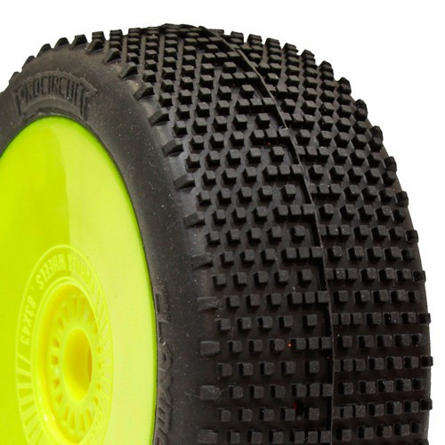 ProCircuit Claymore Buggy Tires (P2) Soft - Pre-Mounted (Yellow) (2) (PCY1012-P2)
