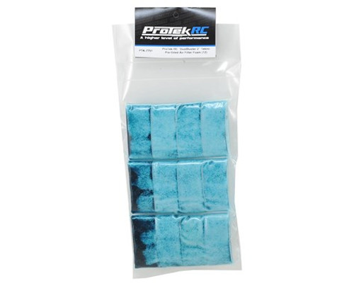 "ProTek RC ""DustBuster 2"" Tekno Pre-Oiled Air Filter Foam (12) (PTK-7751)"