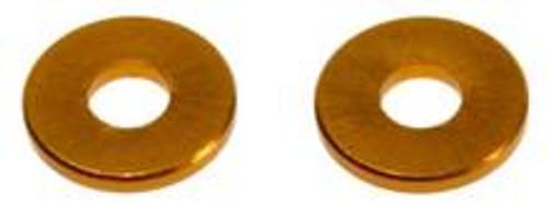 ALUMINUM SPACER 8X3X1MM GOLD (4) (TD709003)