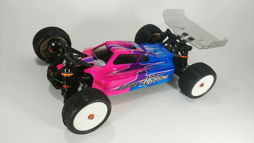 Leadfinger Racing A2 Tactic body w/ 2 wing set (clear) for HB D418