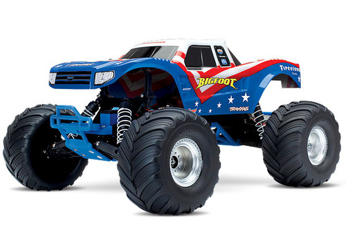 """Traxxas """"Bigfoot"""" 1/10 RTR Monster Truck (Red, White & Blue) w/XL-5 ESC, TQ 2.4GHz Radio, Battery & DC Charger"""