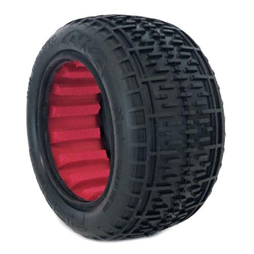 "AKA Rebar 2.2"" Rear Buggy Tires w/Red Insert (2) (Soft) (AKA13108SR)"