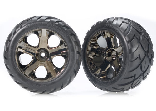 Traxxas Anaconda Tires w/All-Star Front Wheels (2) (Black Chrome) (Standard) (TRA3776A)
