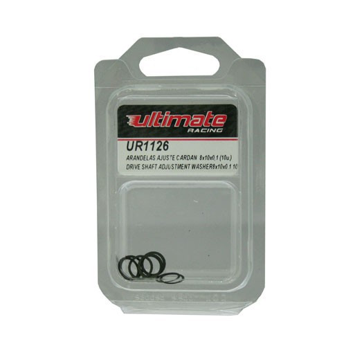 Ultimate Racing Driveshaft Adjustment Washers 8X10X0.1 (10PCS) (UR1126)