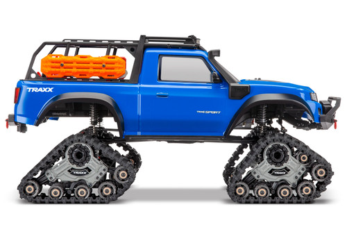 Traxxas TRX-4 1/10 Scale Trail Rock Crawler (Blue) w/All-Terrain Traxx & TQ 2.4GHz Radio