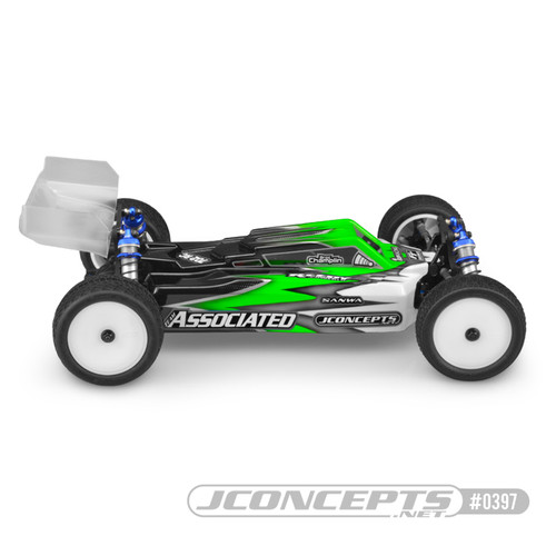 "JConcepts RC10 B74 ""F2"" Body w/S-Type Wing (Clear)"