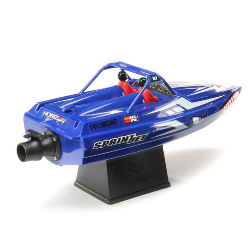Pro Boat Sprintjet 9 Inch Self-Righting RTR Electric Jet Boat (Blue) w/2.4GHz Radio, Battery & Charger