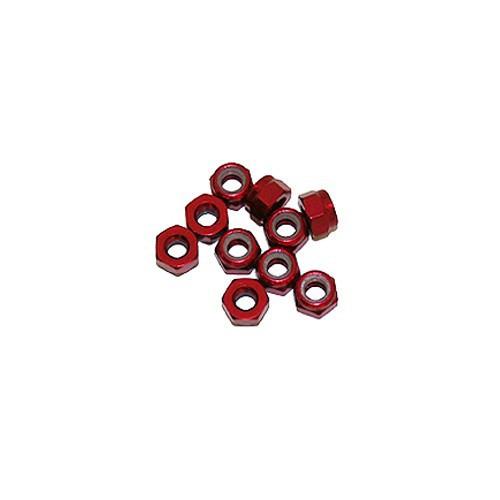 Ultimate Racing 4mm Aluminum Nylock Nut (Red) (10pcs) (UR1512-R)