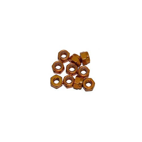 Ultimate Racing 3mm Aluminum Nylock Nut (Gold) (10pcs) (UR1502-G)