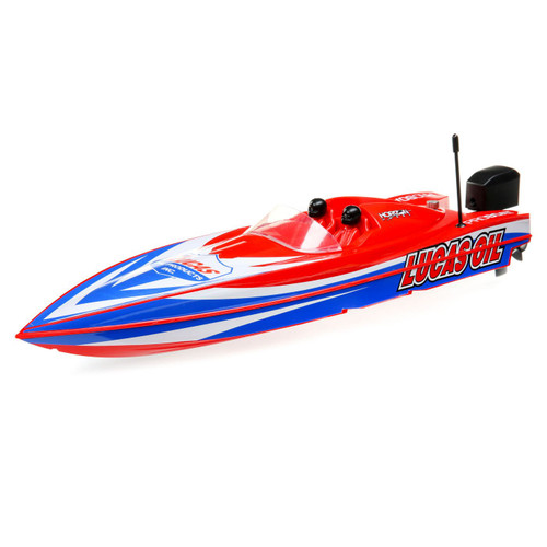 "Pro Boat 17"" Power Boat Racer Deep-V RTR Brushless Boat (Lucas Oil) w/2.4GHz Radio & SMART"