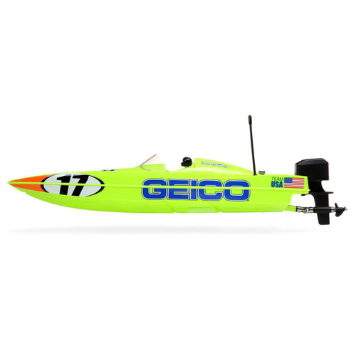 "Pro Boat 17"" Power Boat Racer Deep-V RTR Brushless Boat (Miss GEICO) w/2.4GHz Radio & SMART"