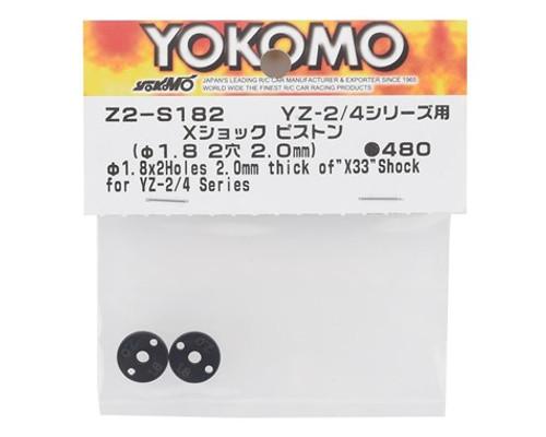Yokomo X33 X Shock Piston Set (2) (2x1.8mm)