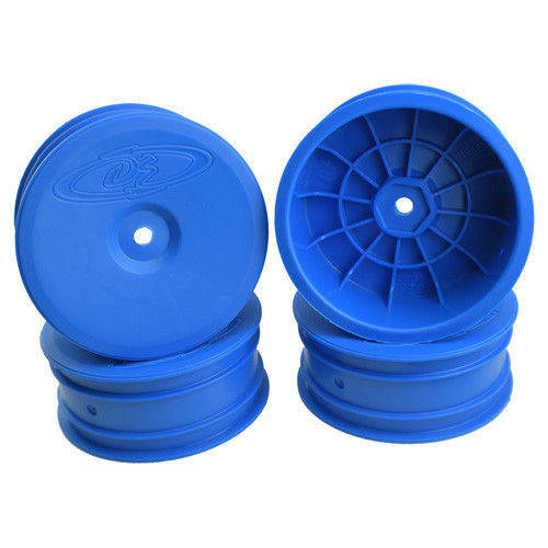 """DE Racing 12mm Hex """"Speedline"""" 2.2 1/10 Buggy Front Wheels (4) (B6/RB6) (Blue) (DER-SB4-AFC)"""