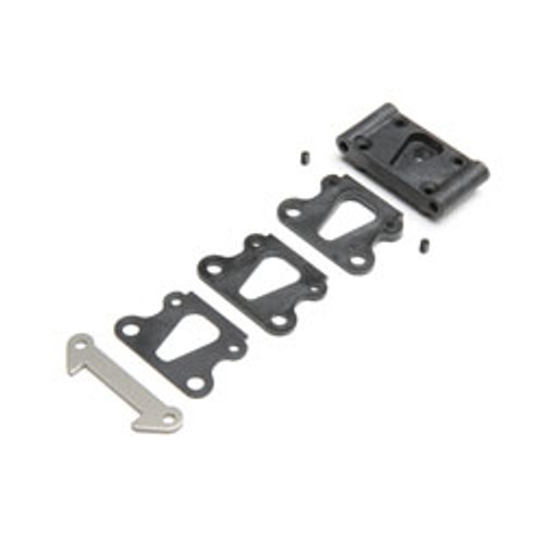 Team Losi Racing Front Pivot w/Brace & Kick Shims (TLR234109)