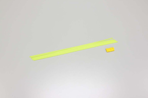 Kyosho Color Antenna Tubes & Caps (Yellow) (6) (KYO1707)