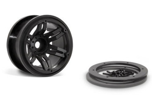 Axial 2.2 Rockster Beadlocks - Black (2pcs) (AX8091)