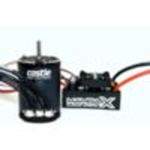 Castle Creations Mamba X Waterproof Sensored Brushless Combo w/2280kV Slate (CSE010-0155-09)