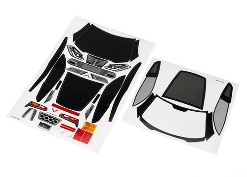 Traxxas Racing Decal sheets, Chevrolet Corvette Z06 (TRA8387)