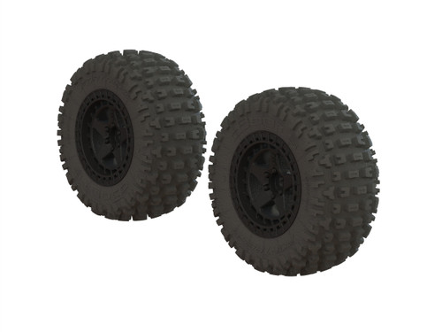 Arrma DBOOTS 'FORTRESS SC' TIRE SET GLUED (BLACK) (2PCS) (AR550042)
